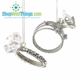 Diamond Ring Oversized Ornaments - Set of 2