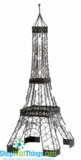 "CLEARANCE � Eiffel Tower Sculpture - Black Iron, 28"" Tall"