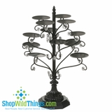 CLEARANCE-Fancy Cupcake Tower - Black Iron With Beads (Last One!)