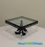 CLEARANCE - Glass Cake Stand - Square - 1 available