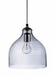 "CLEARANCE! - Glass Hanging Pendant Lamp 10"" x 9"""