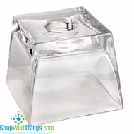 "CLEARANCE-Glass Square Display Candle Holder 5"" x4"""