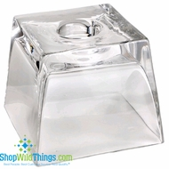 "CLEARANCE-Glass Square Display Candle Holder 6"" x5"""