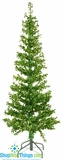 CLEARANCE-Green Metallic Tinsel Pinetree, 5' Tall