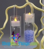 "CLEARANCE-Hanging Tealight Vases (set of 2 pcs)  ""Evangeline"" - 1.75"" x 5"""