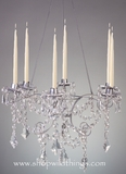 "CLEARANCE-""Maribelle"" - Candelier Silver & Crystal, 6 Pillar Candles"