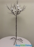 "CLEARANCE - Metal Candle Tree Brown/Black 44"" w/7 cups - 1 available"