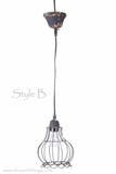 "CLEARANCE  Metal Wire Pendant Hanging Lamp ""Style B"""