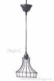"CLEARANCE Metal Wire Pendant Hanging Lamp ""Style C"""