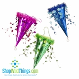 CLEARANCE! - Ornaments - Beaded Holographic Cones with Beads (6pcs)