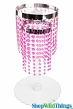 "CLEARANCE - Pink Beaded Centerpiece - 2 Tier ""Whitney"" Top Only"