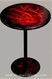 "CLEARANCE-Red Metal Table - 16.5"" x 22""Talll"