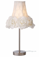 "CLEARANCE - ""Rosie"" Glamorous Ivory Rose Shade Accent Lamp 20"""