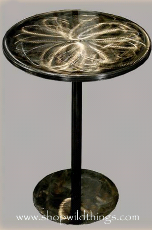 """CLEARANCE-Silver/Pewter Metal Table - 16.5"""" x 22""""Talll"""