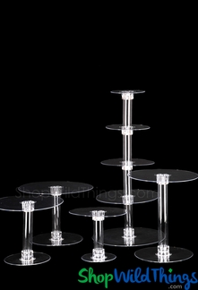Cake Stand Plastic Acrylic Cupcake Stand Clear Cake