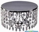 "Crystal Beaded Cake Stand & Centerpiece Riser -  ""Prestige"" -  10"""