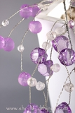 Crystal Beaded Garlands 4 Feet - Purple & Crystal