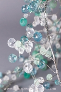 Crystal Beaded Garlands - Blue Green & Crystal