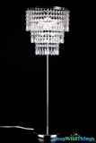 "Crystal Beaded Table Lamp Shabby Chic ""Victoria"""