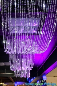 Crystal Ceiling Drapes - With or Without LED's