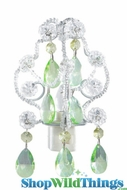 Crystal Chandelier Night Light - Clear and Green