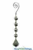 "Crystal Hanging Prism, Glass - Crystal Strand 6.5"" - ""Fallyn"" Set of 12 - Silver"