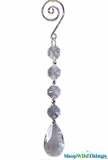 "Crystal Hanging Prism, Glass - Crystal Strand 6.5"" - ""Keira"" Set of 12 - Clear"
