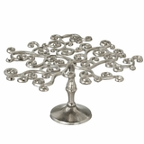 "Curly Tree Pedestal Stand 13"" - Silver"