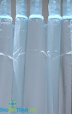 Curtain Aqua Sheer Shiny Organza Tab Top