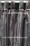 Curtain Black Sheer Shiny Organza Tab Top
