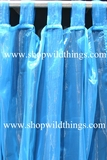Curtain Blue/Turquoise Sheer Shiny Organza Tab Top