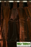 Curtain Chocolate Brown Sheer Shiny Organza Tab Top