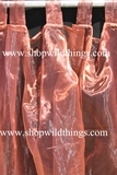 Curtain Copper Sheer Shiny Organza Tab Top