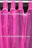 Curtain Fuchsia Sheer Shiny Organza Tab Top