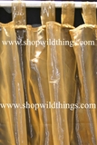Curtain Gold Sheer Shiny Organza Tab Top
