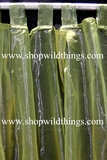 Curtain Green Sheer Shiny Organza Tab Top