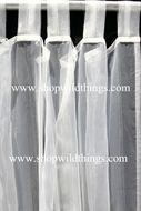 Curtain Ivory Sheer Shiny Organza Tab Top