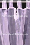Curtain Lavender Sheer Shiny Organza Tab Top