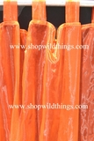Curtain Orange Sheer Shiny Organza Tab Top