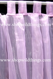 Curtain PinkyLilac Sheer Shiny Organza Tab Top