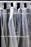 Curtain Silver Sheer Shiny Organza Tab Top
