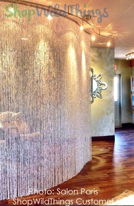 Custom Bendable or Straight Metal Rod Curtains & Columns - Great for Curved Walls!