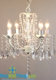 """Daphne""  Chandelier - Glimmering Draped Glass Crystals"