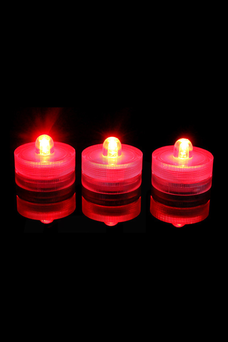 DazzLED Submersible Red LED Lights- Set of 10