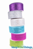 "Decorating Mesh Ribbon Rolls - 2.5"" x 25 Yards - Laser Metallic"