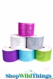 "Decorating Mesh Ribbon Rolls - 4"" x 25 Yards - Laser Metallic"