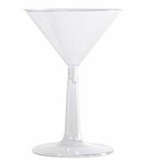 "Coming Soon - Decorative Martini Glass - 12"" Plastic - Set of 4 - Fillable Stem!"