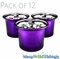 """Mercury Glass """"Frosted Metallics"""" Purple - Set of 12 Candle Holders"""