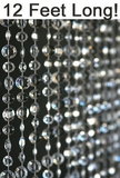 Diamante Duo Beaded Curtain - Crystal Non-Iridescent - 3 ft x 12 ft