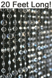 Diamante Duo Beaded Curtain - Crystal Non-Iridescent - 3 ft x 20 ft